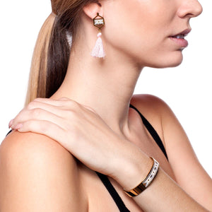 Monterey | 18k Gold | Boho Bangle Fringe Earring Set
