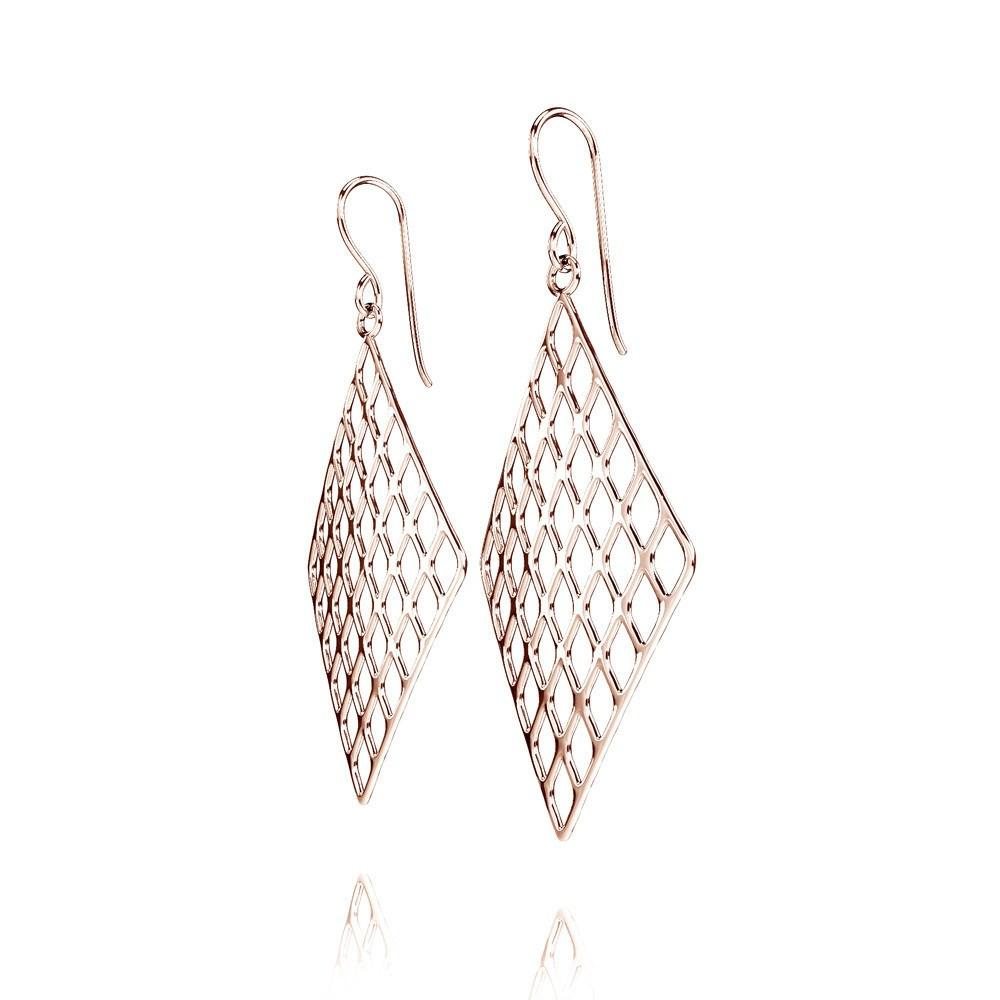 Les boucles d'oreilles GRID | VOGUE | Or rose 14 carats