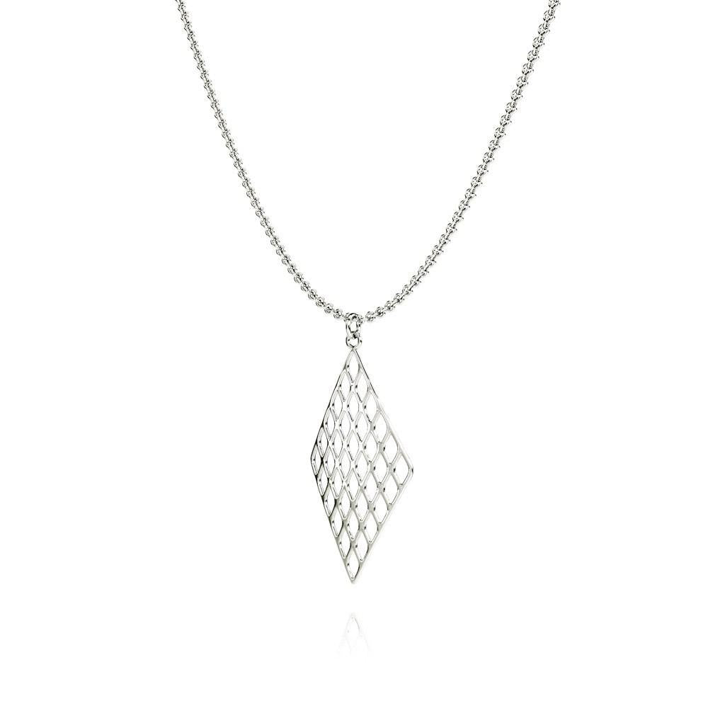 The GRID Necklace | VOGUE | Platinum Sterling