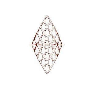 L'anneau GRID | VOGUE | Or rose 18 carats sterling