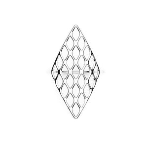 L'anneau GRID | VOGUE | Platine sterling
