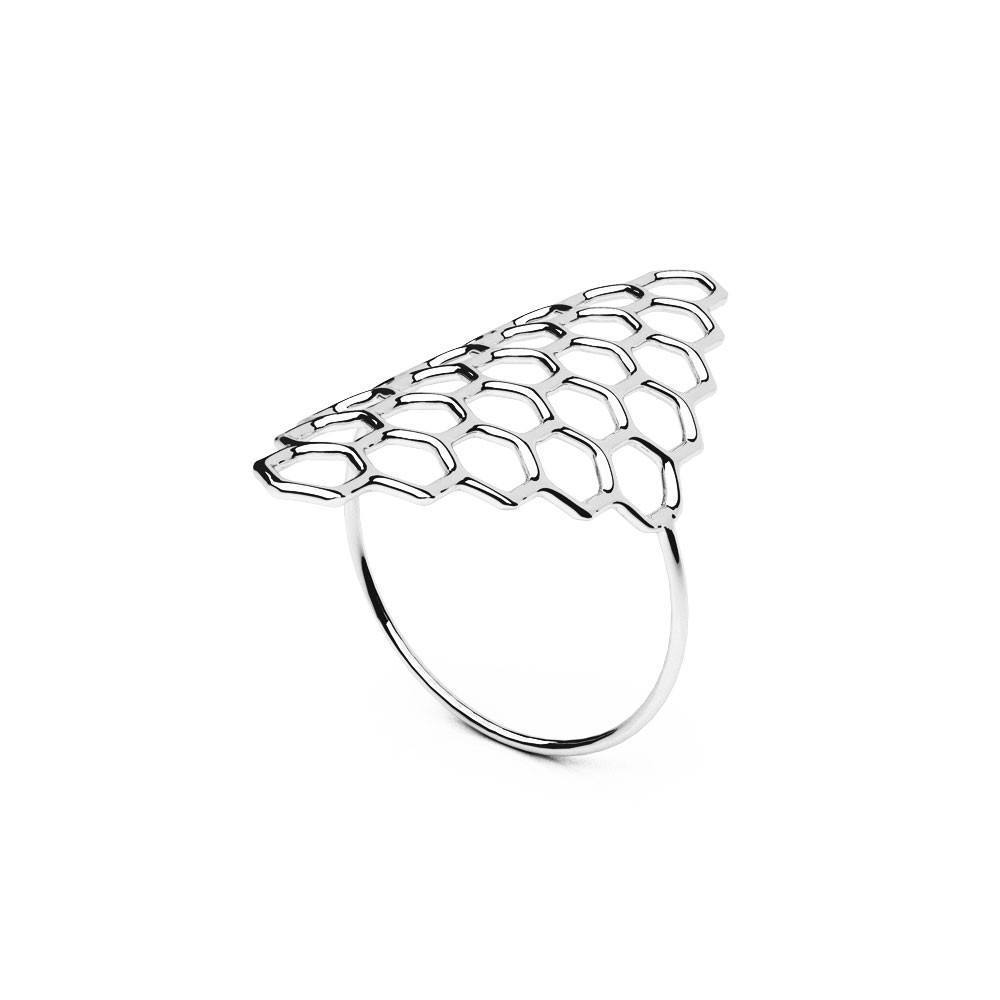 The HIVE Ring | VOGUE | Platine sterling