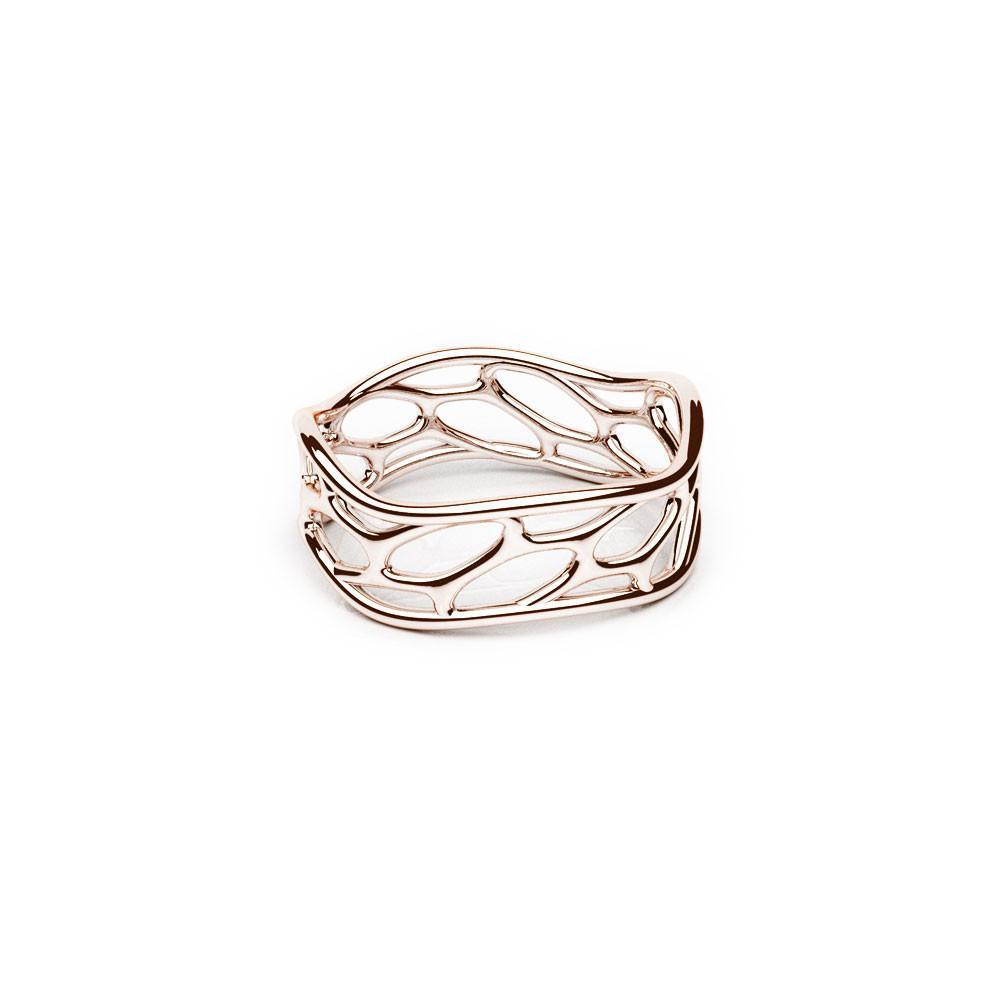 The HIVE Ring | Wave | Or rose 18 carats sterling
