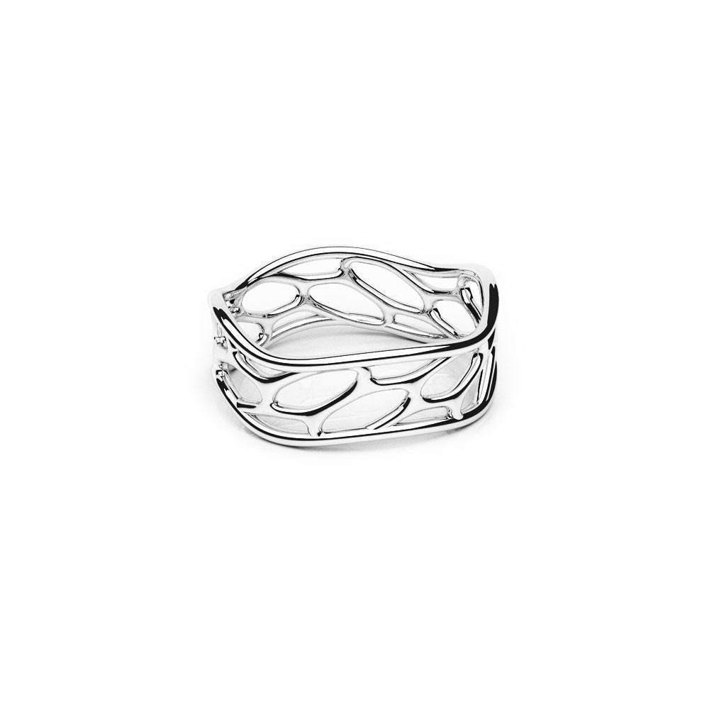 The HIVE Ring | Wave | Platinum Sterling