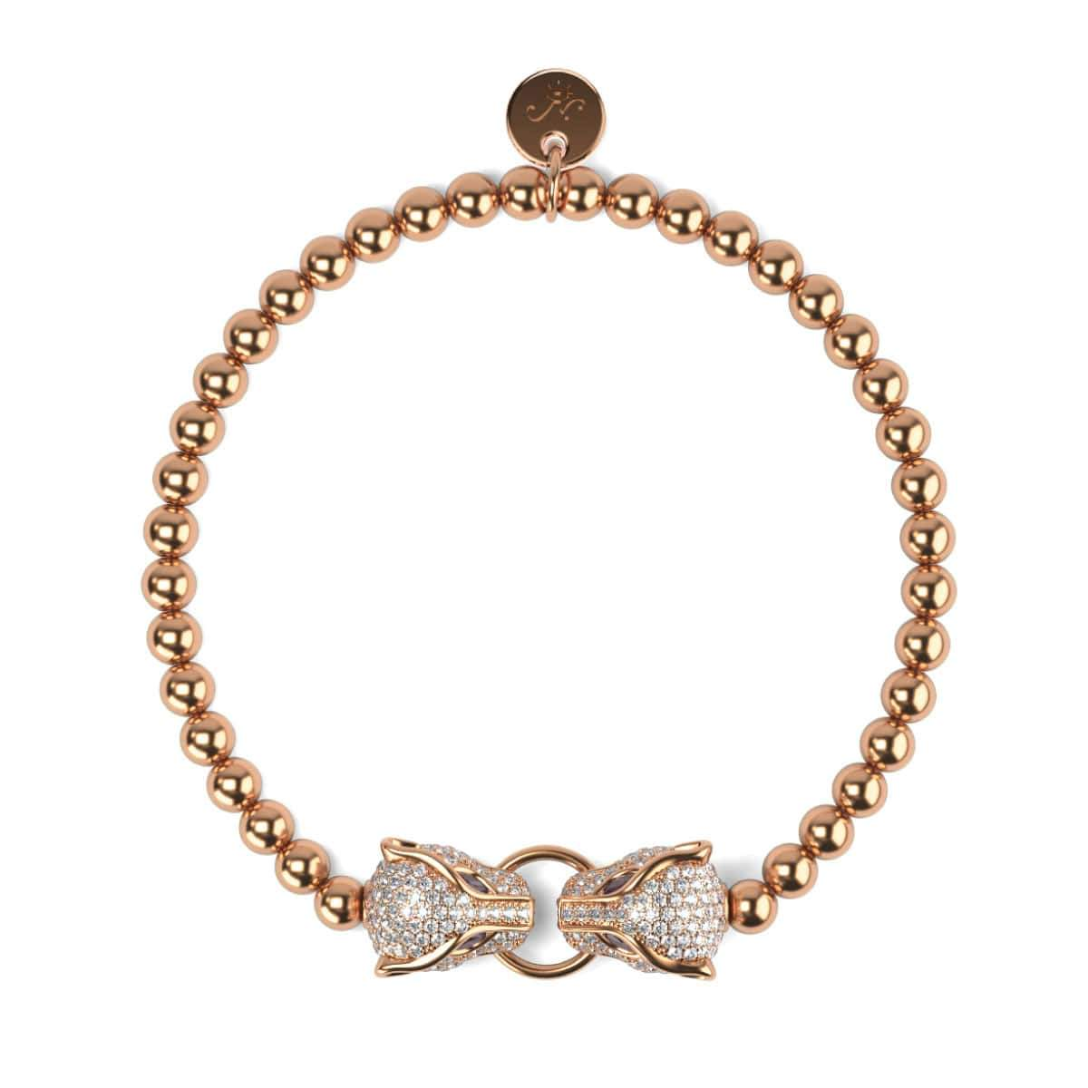 Panthera by Keysi Sayago | 18k Rose Gold | Cubic Zirconia Crystal Bracelet