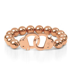 18k Rose Gold | Beaded Cuff Bracelet