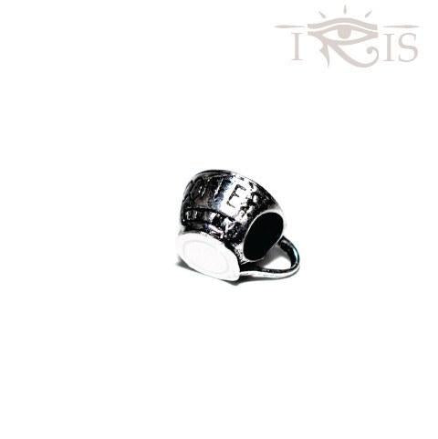 Perlita - Silvertone Coffee Cup Silver Filled Charm from IRIS
