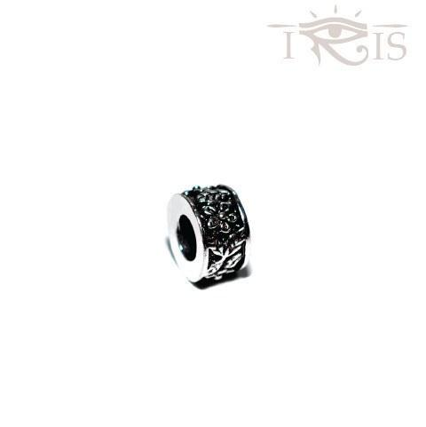 Philipa - Silvertone Garden of Eden Rhodium Filled Charm from IRIS