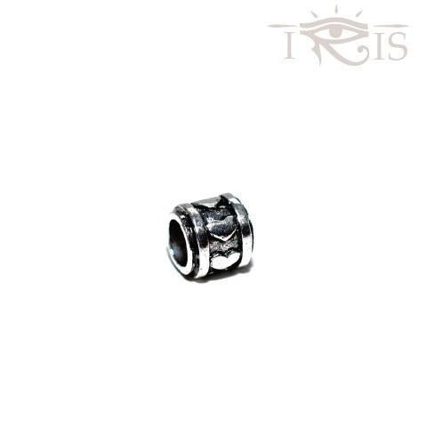 Regina - Silvertone Heart Wheel Rhodium Filled Charm from IRIS