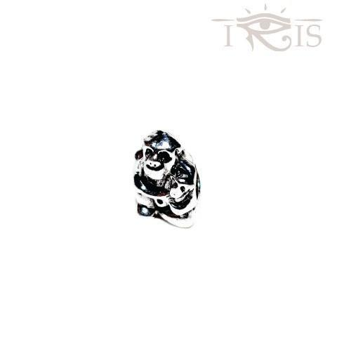Carrie - Silvertone Koko Gorilla Silver Filled Charm from IRIS