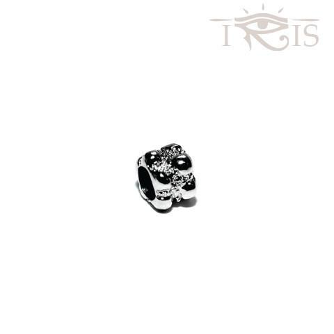 Andi - Silvertone Popcorn Rhodium Filled Charm from IRIS