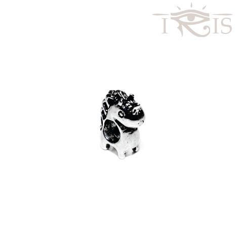 Antonella - Silvertone Royal Horse Silver Filled Charm from IRIS