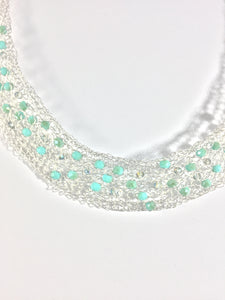 Collar necklace with Swarovski crystals