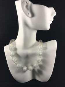 Necklace and earring set pale green