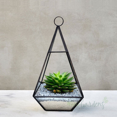 Hanging Lantern Garden Set of 10 (Silver Gravel)