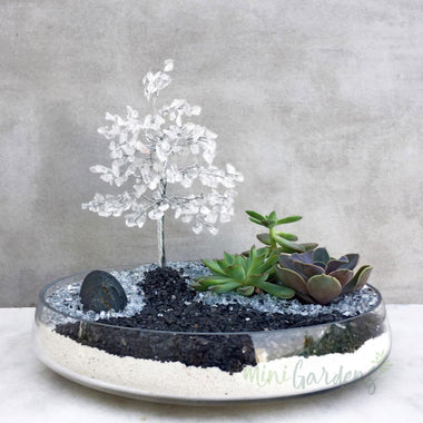 Clear Quartz Crystal Garden-Birthday Gift