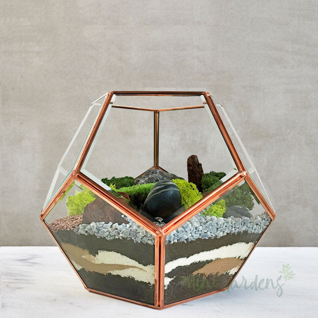 Moss Terrarium (Large) Rose Gold