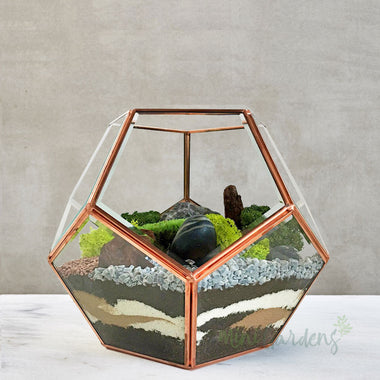 Preserved Moss Terrarium Garden (Large) Rose Gold