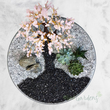 Pink Blush Crystal  MiniGarden