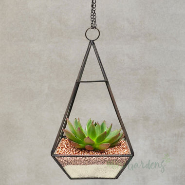 Hanging Lantern Garden Set of 10 (Gold Gravel)