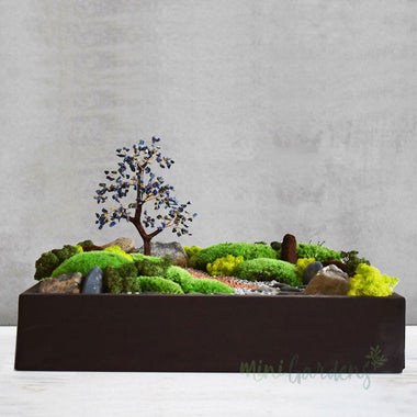 Tabletop landscape with Crystal tree