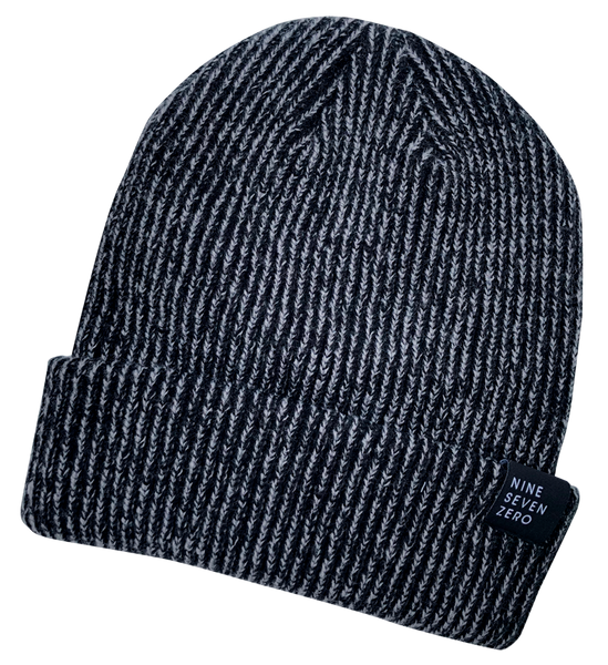 NSZ Cuffed Beanie - Black/Steel
