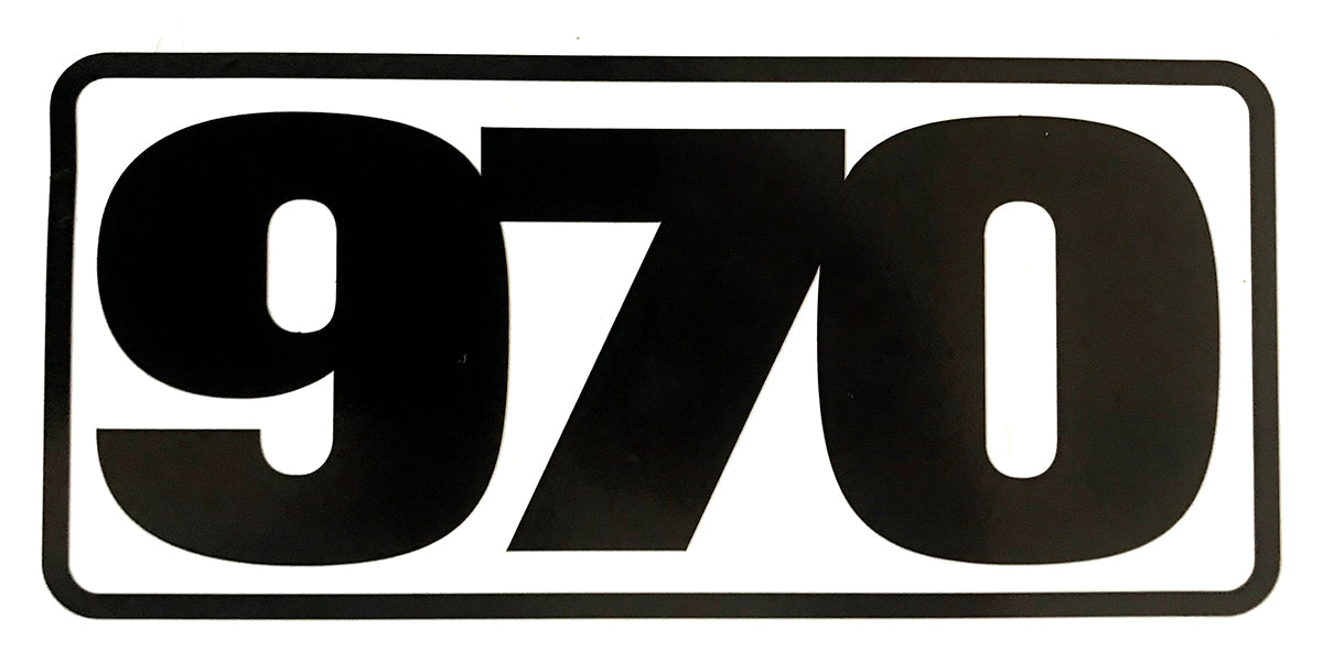 970 Cut Vinyl Sticker - Black - Frame