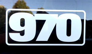 970 Cut Vinyl Sticker - White - Frame