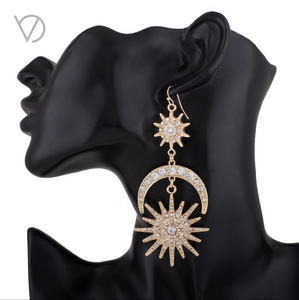 Moon Sun Star Earrings