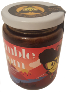 Jar of bumble bloom Cinnamon-flavoured plant-based honey alternative