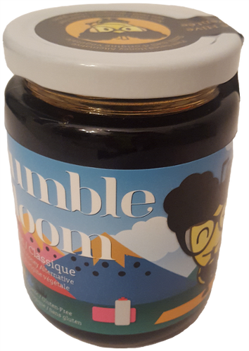 Jar of bumble bloom Classic plant-based honey alternative