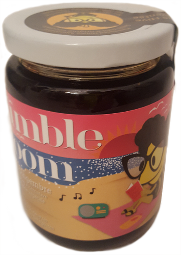Jar of bumble bloom Ginger-flavoured plant-based honey alternative