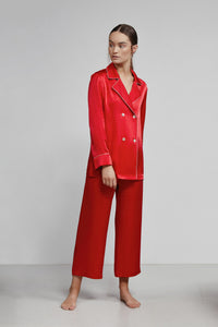 Cropped Pull On Pant, Ruby Dot, Front