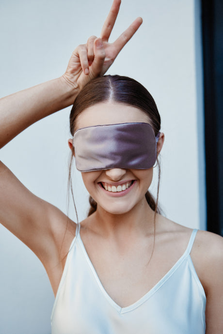 Silk Sleep Mask, Smoke
