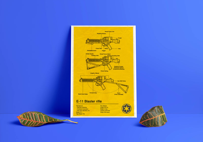 Blaster Rifle Bluepint Poster