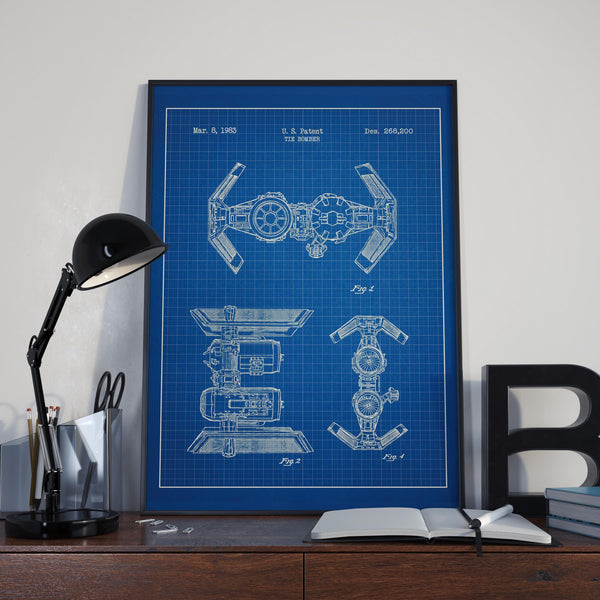 The Bomber Star Wars Blueprint Poster
