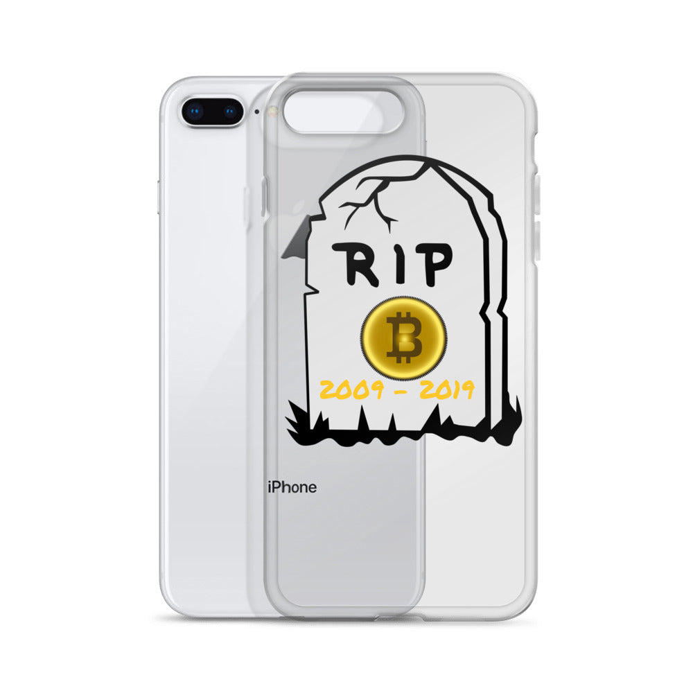 Bitcoin R.I.P iPhone Case - ShoppiZone.com