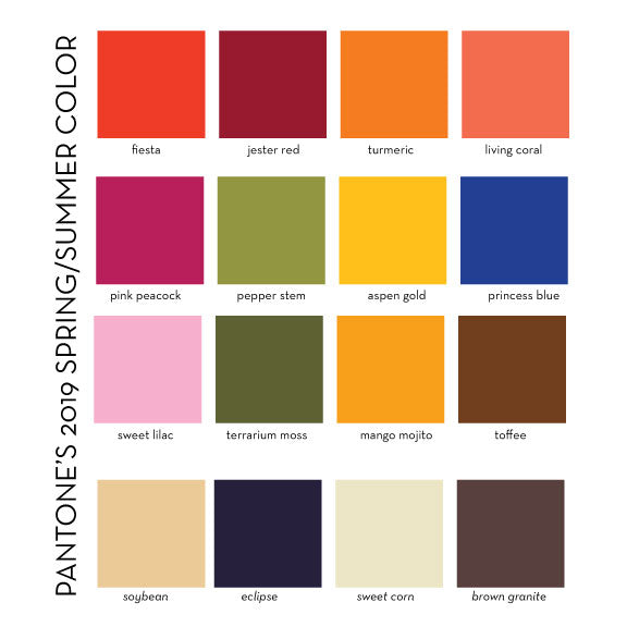 Adopt the spring summer 2019 Pantone palette