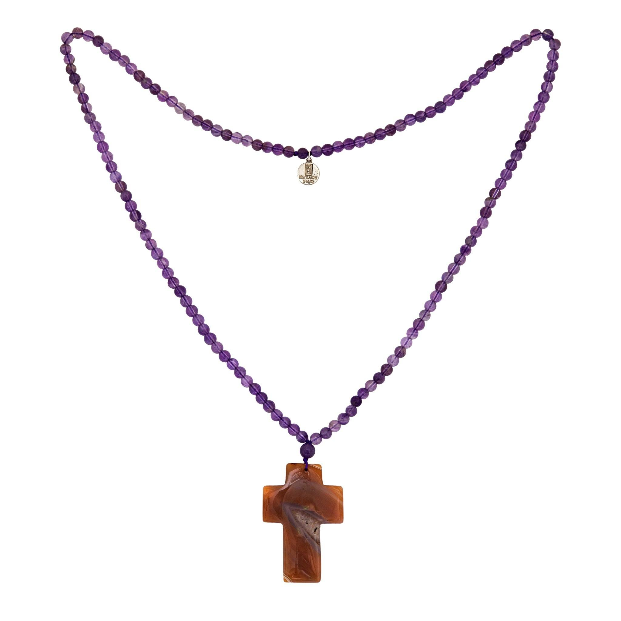 BAHIA amethyst cross necklace