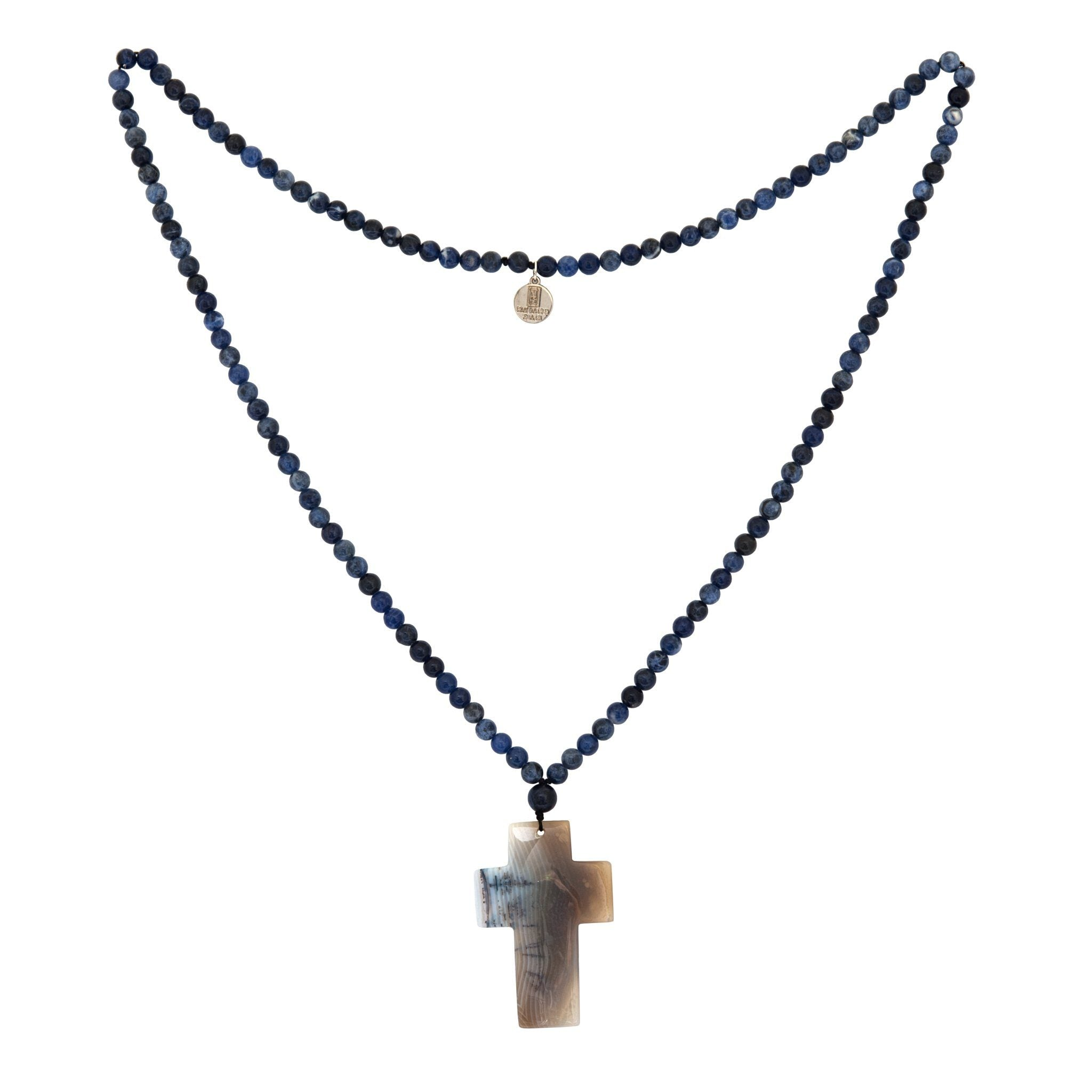 BAHIA iolite cross necklace - MadamSiam
