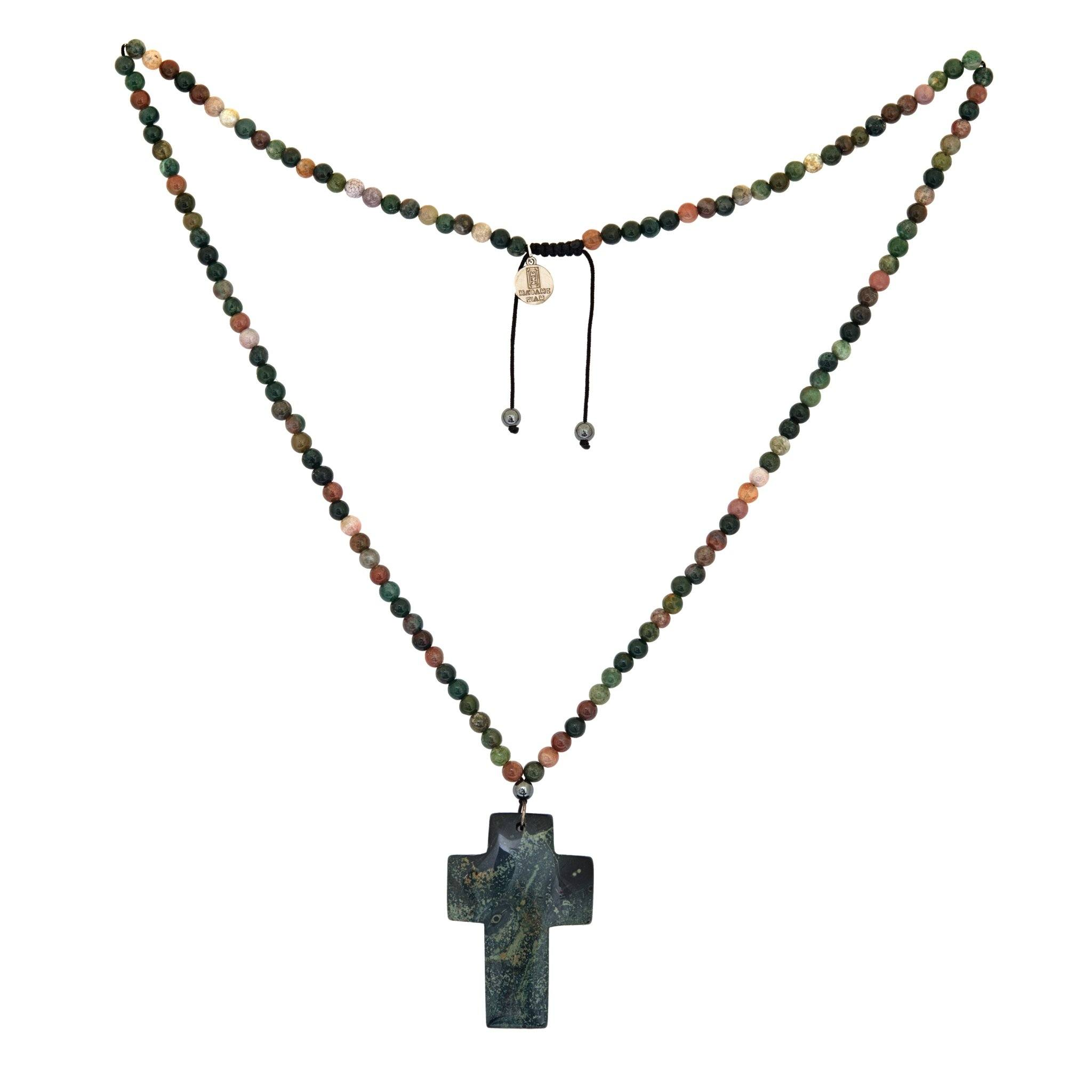 BAHIA jade cross necklace - MadamSiam