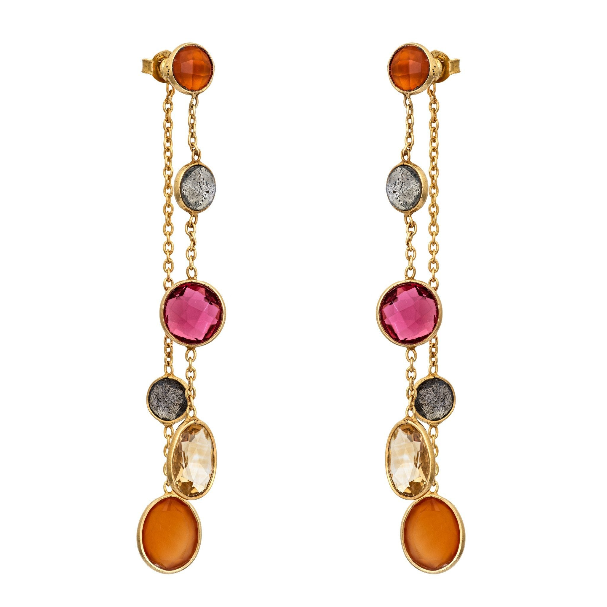 BUA summer color stones earrings - MadamSiam