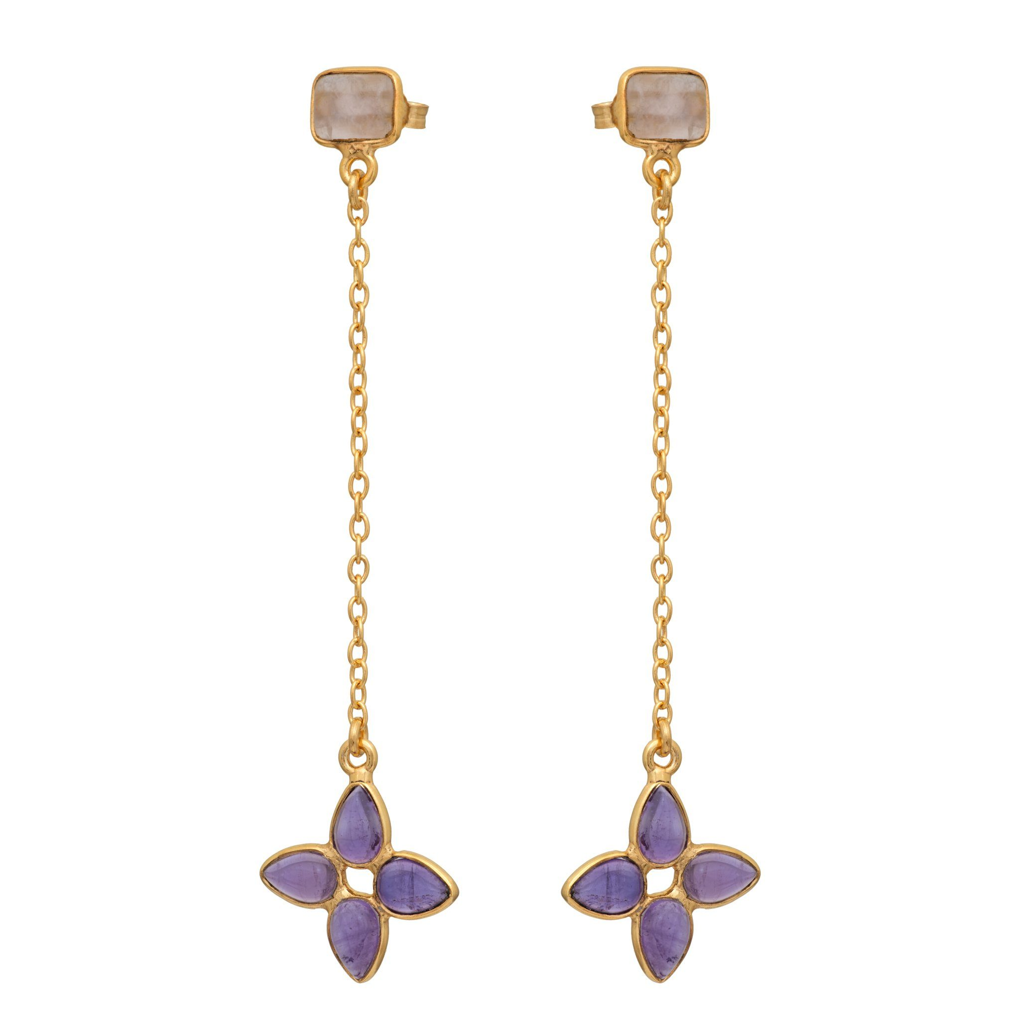 FLORA amethyst earrings - MadamSiam