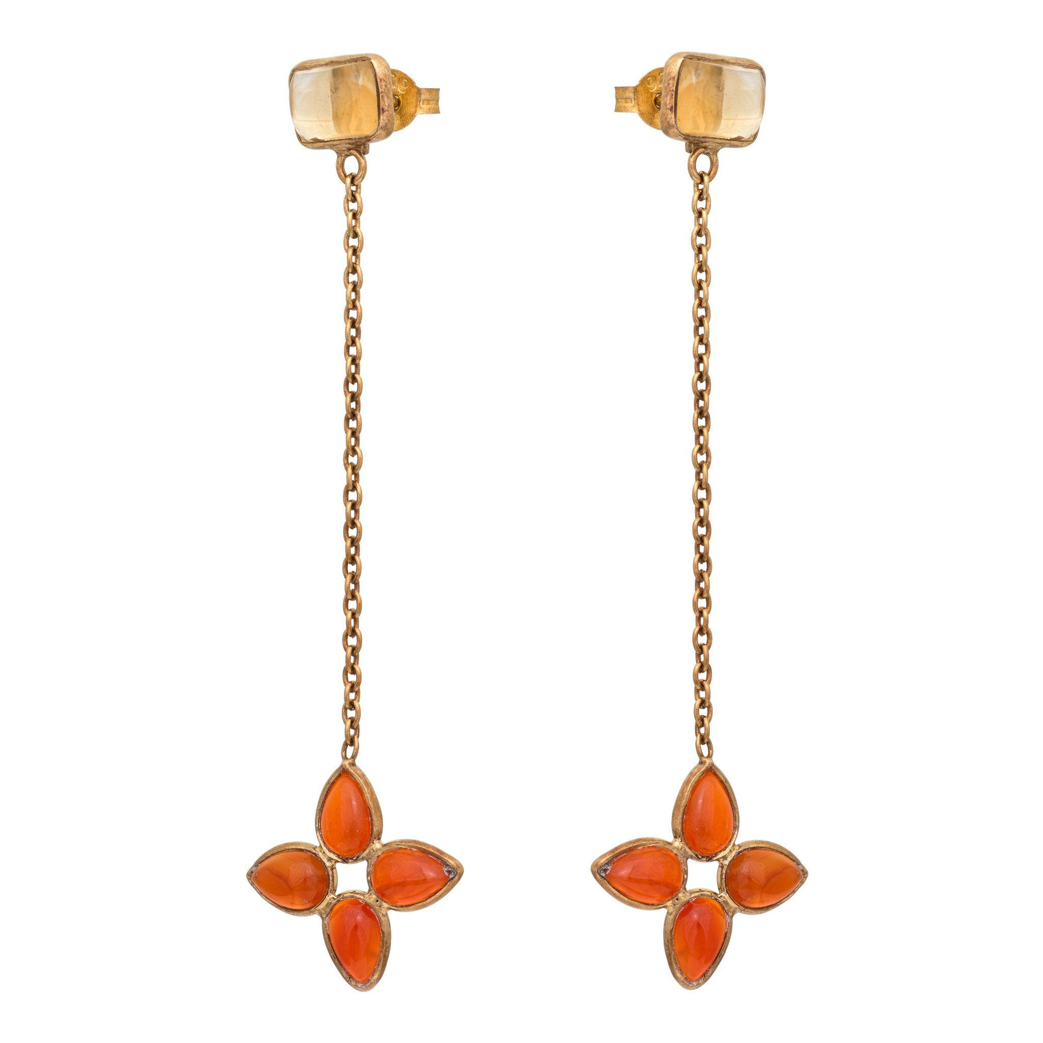 FLORA carnelian earrings - MadamSiam