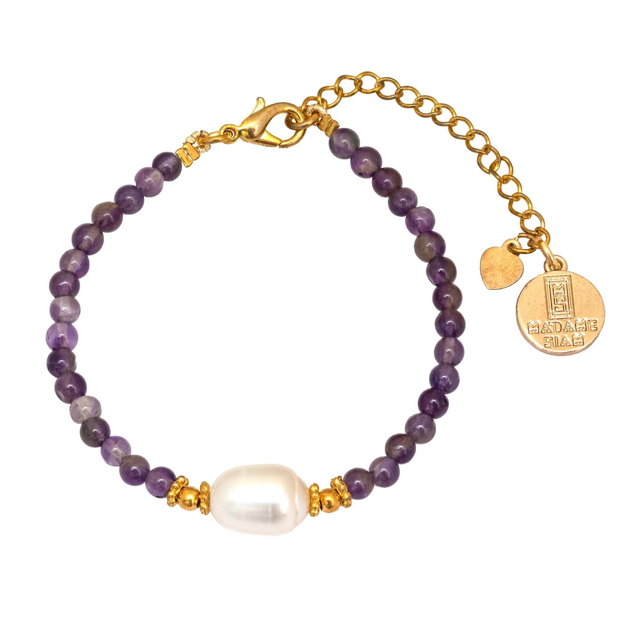 KIMUKA pearls and amethyst bracelet - MadamSiam