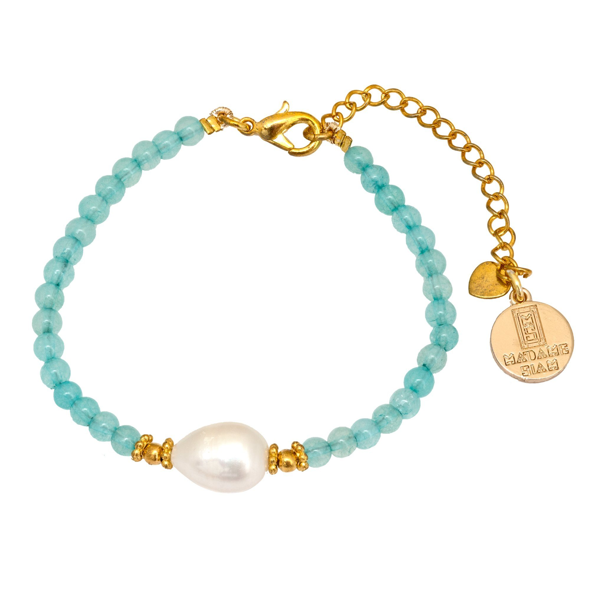 KIMUKA pearl and apatite bracelet - MadamSiam