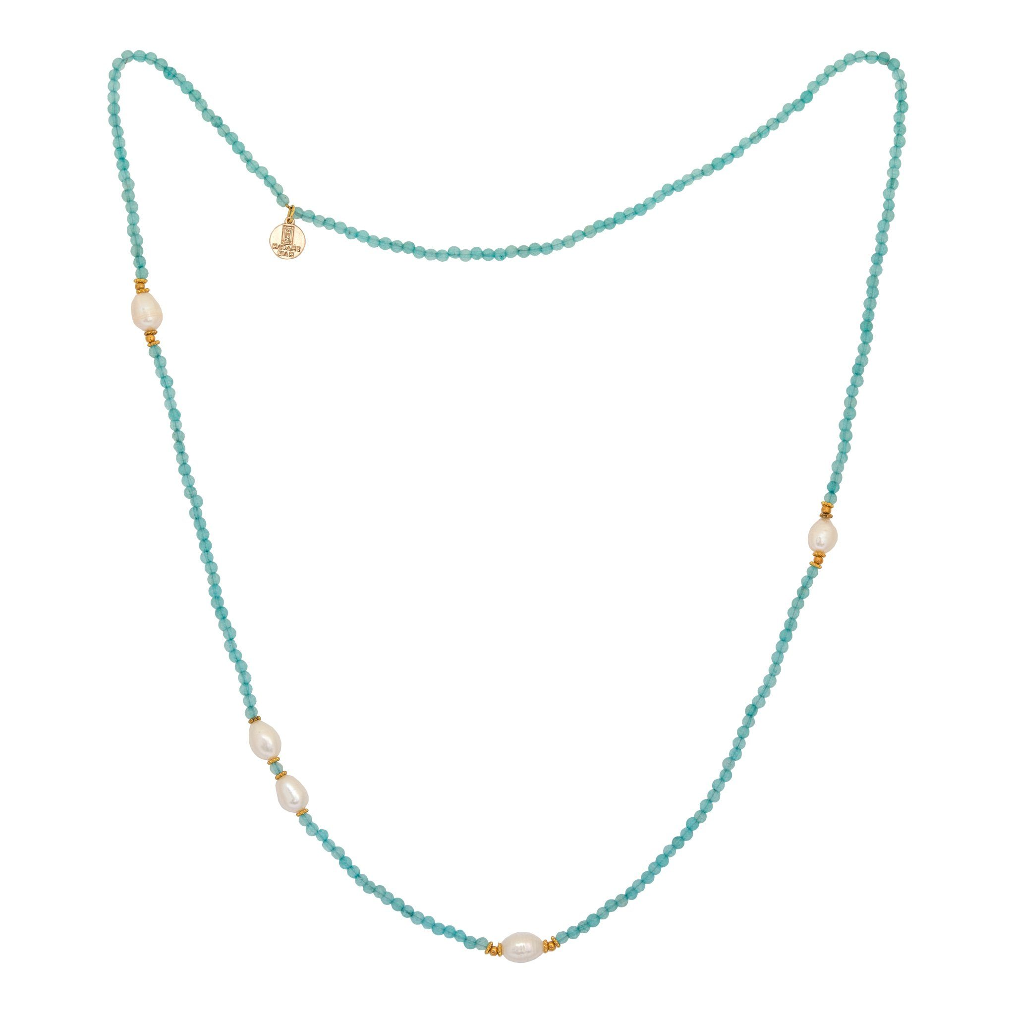 KIMUKA pearls and apatite necklace - MadamSiam