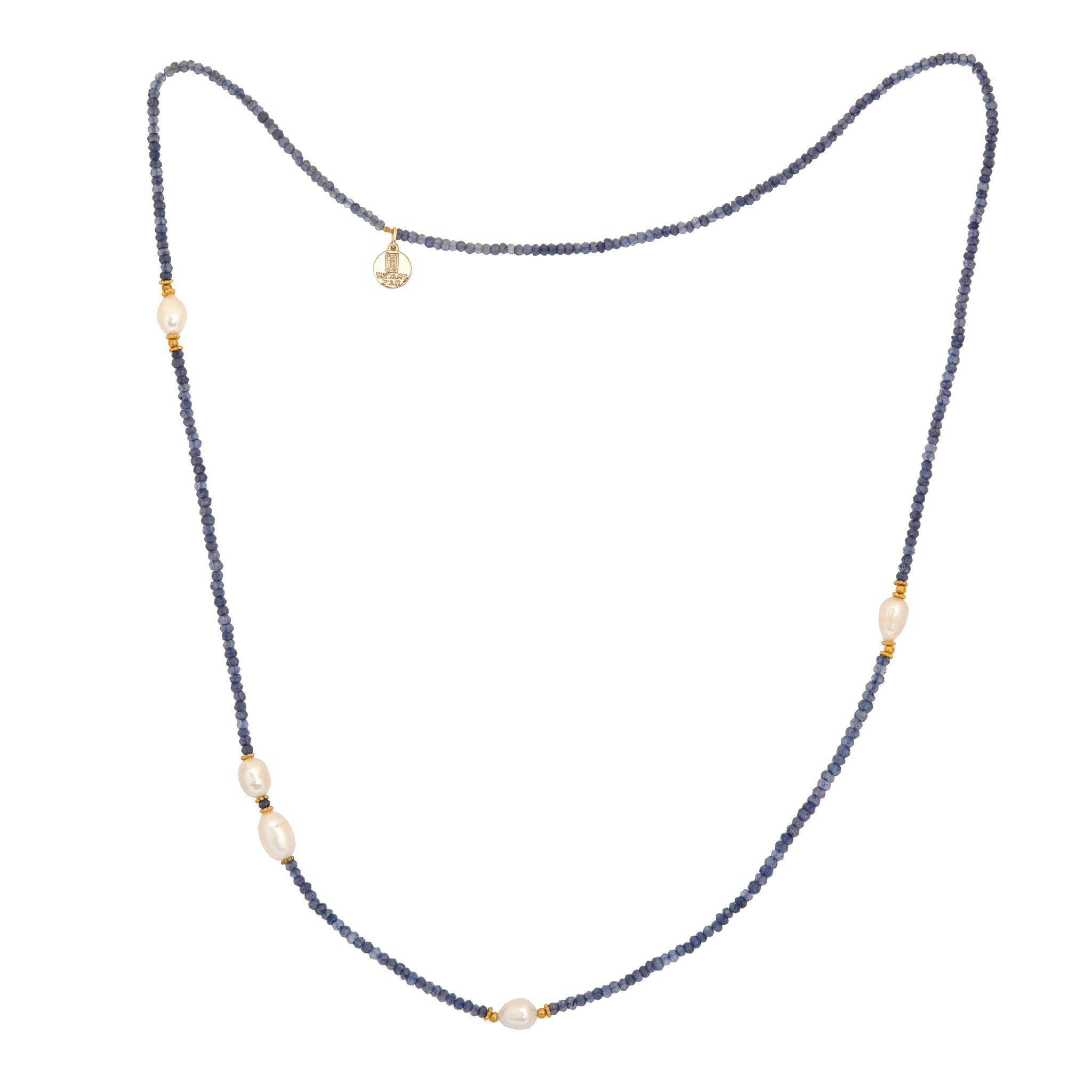 KIMUKA pearls and iolite necklace - MadamSiam