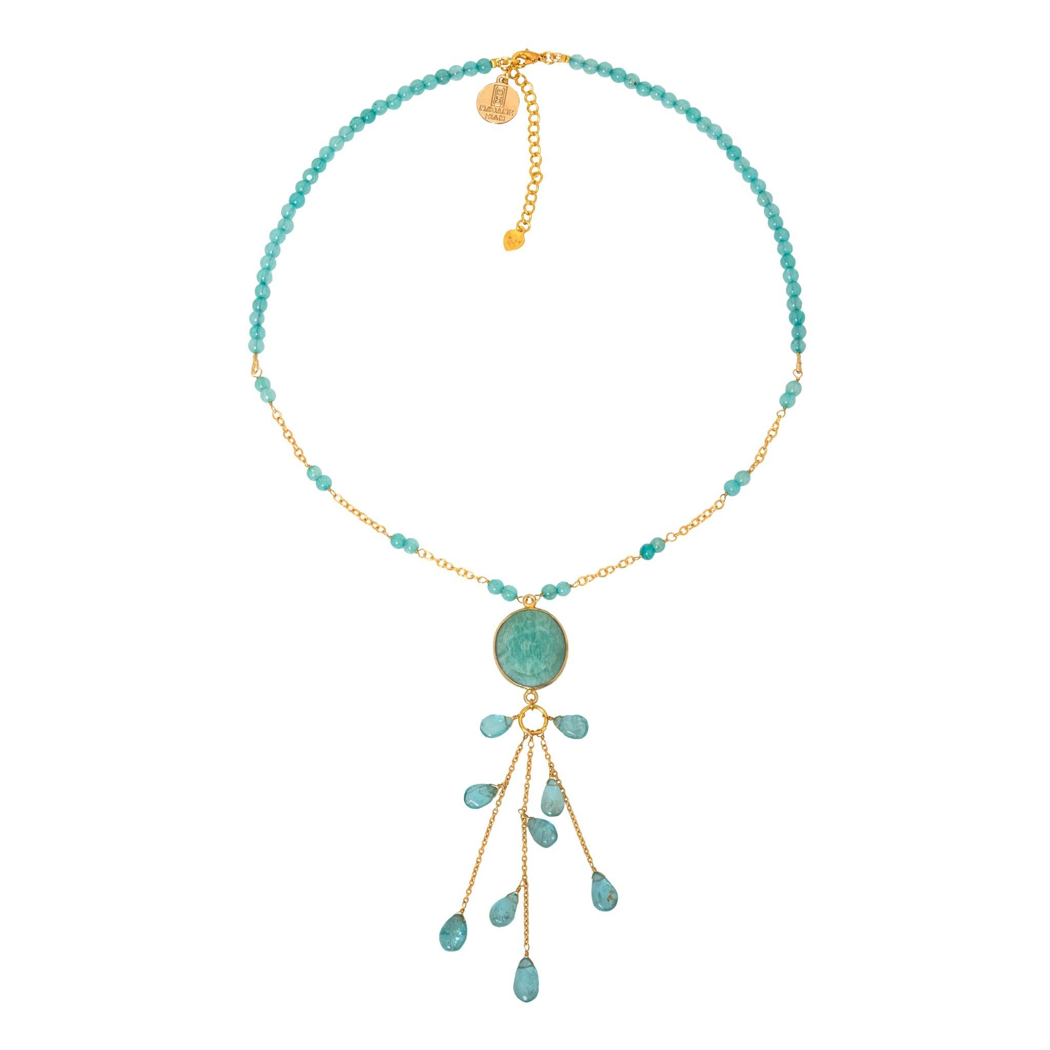 LUZ apatite chocker with drops - MadamSiam
