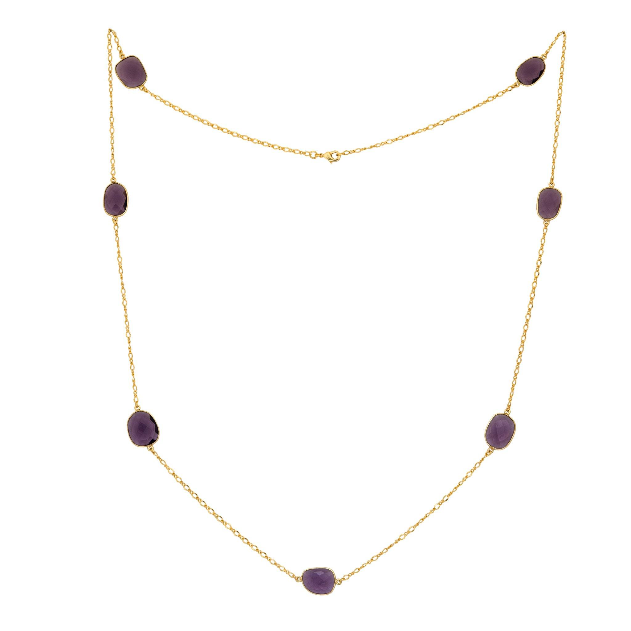 MOUSSON amethyst Necklace - MadamSiam